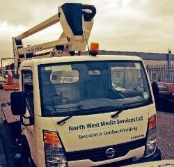 North West Media Services lorry